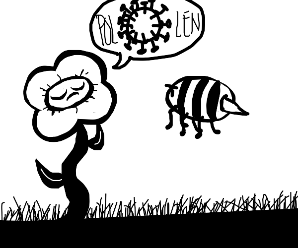 Flowers beg bee for polinization