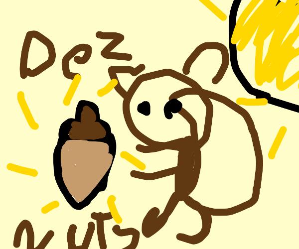 squirrel getting dez nutz