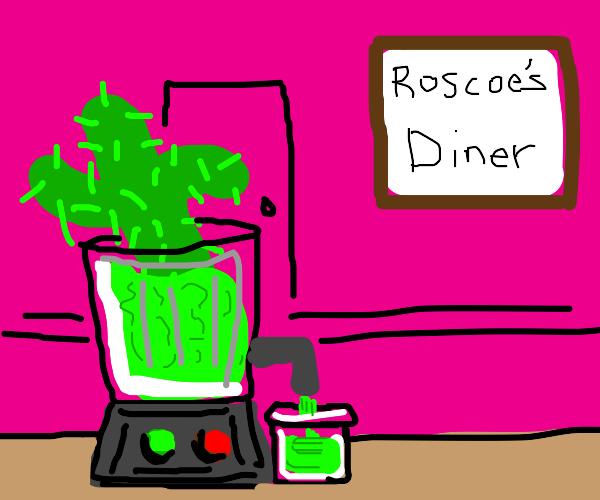 roscoe's diner now sells fresh cactus juice
