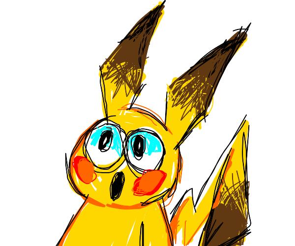 Really surprised Pikachu