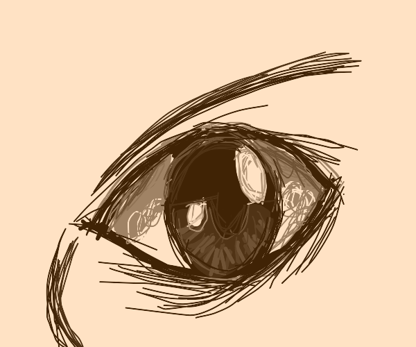 a close up of an open eye