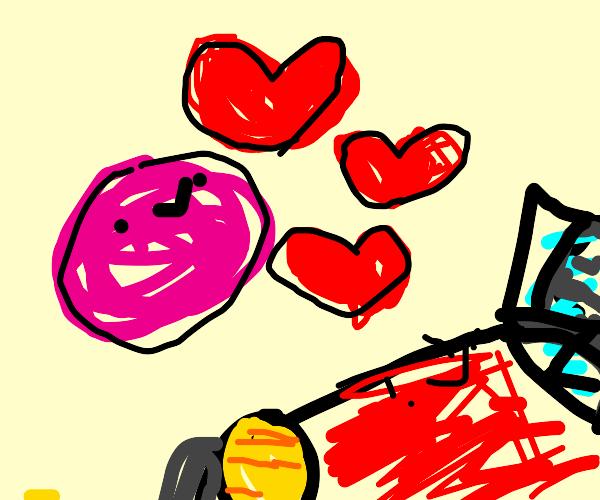 a pink ai (love) car