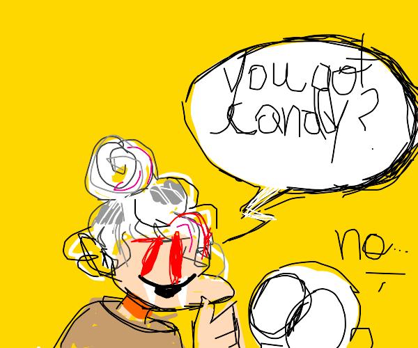 Vampire granny wonders if you got candy yet