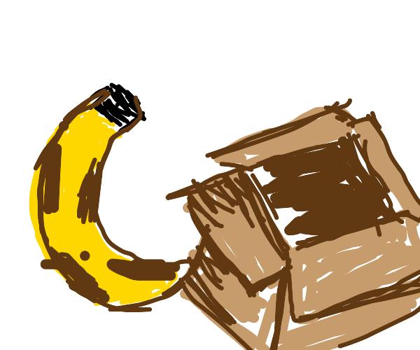 Banana and cashier