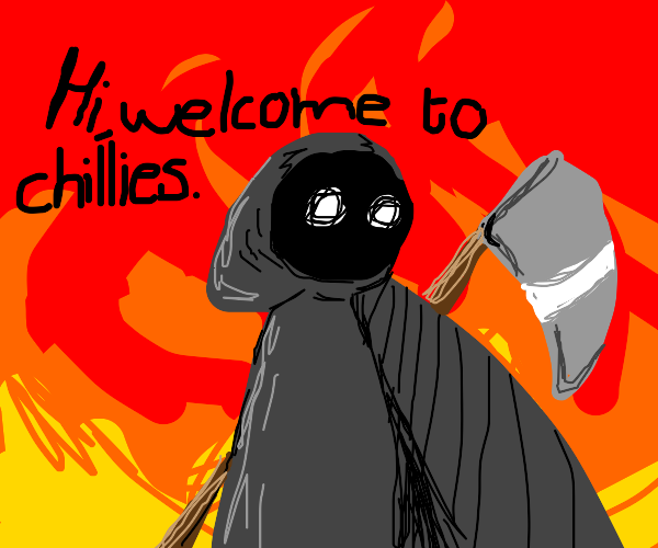 "Grimm Reaper says, ""Welcome"""