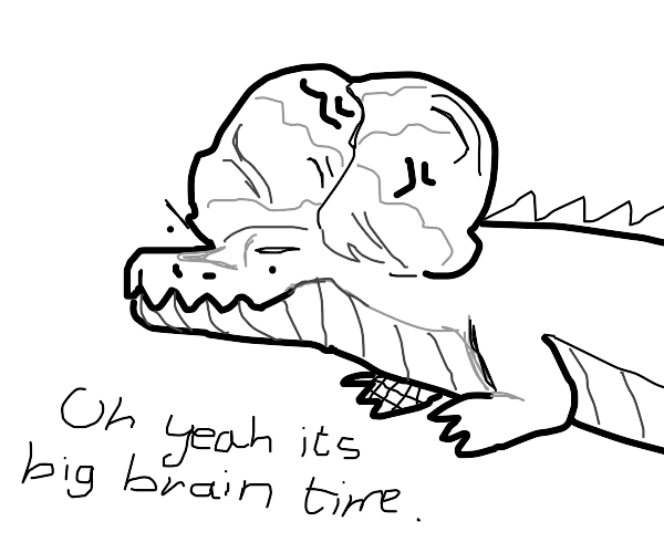 the crocodil with the biggest brain