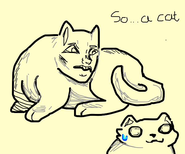 "Human-ish cat is like ""so a cat"""