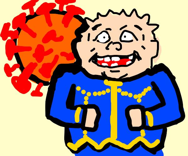 Shigechi summons his Coronavirus stand (Jojo)