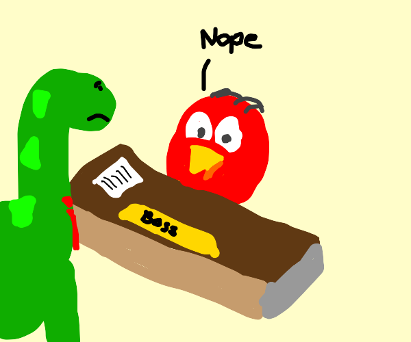 Boss bird rejects dino applicant