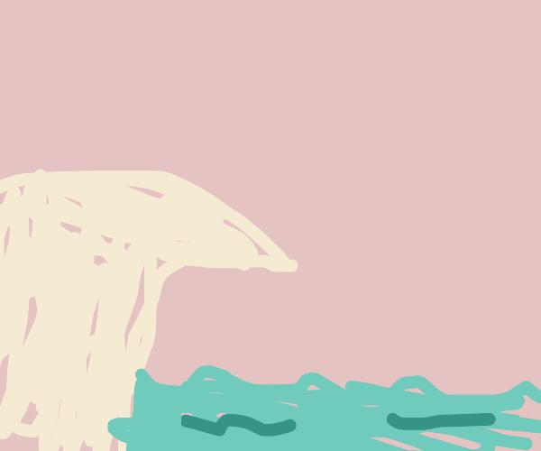A cliff over the ocean