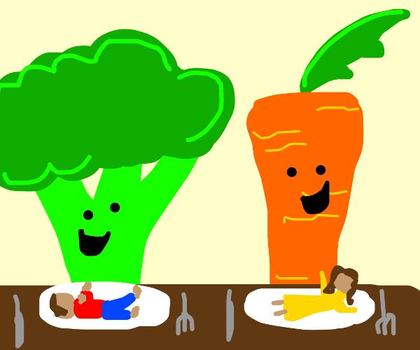 remember veggies: eat your kids