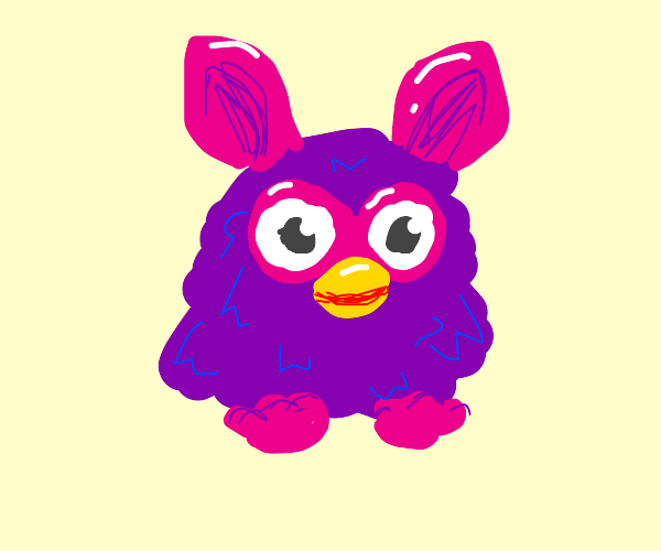 Literally a drawing of a Furby