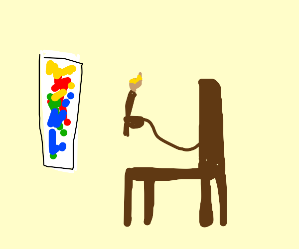a chair painting abstract art