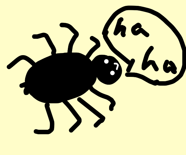 Spider laughing