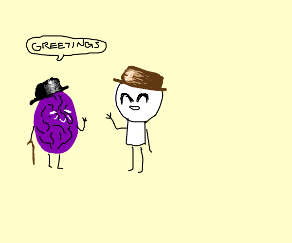 rasin greeting a guy