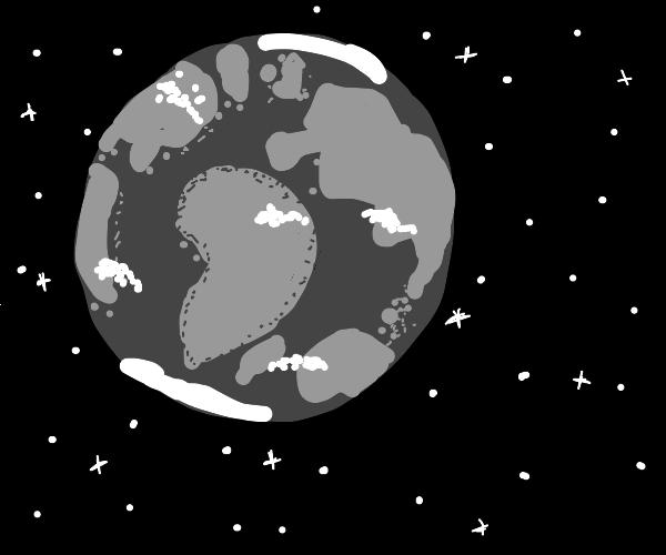 greyscale earth