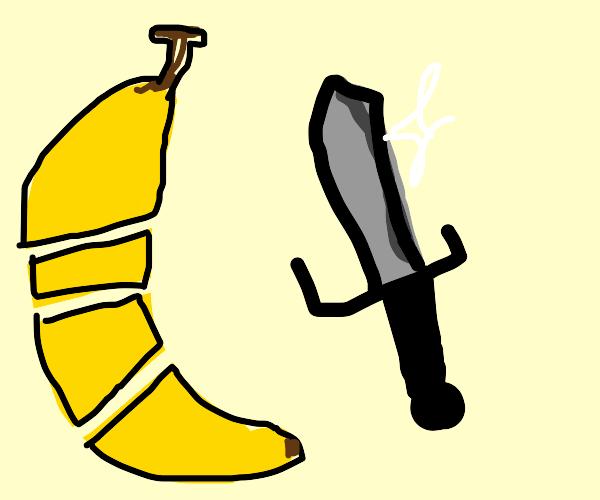Slice bananas with swords, thats the true way