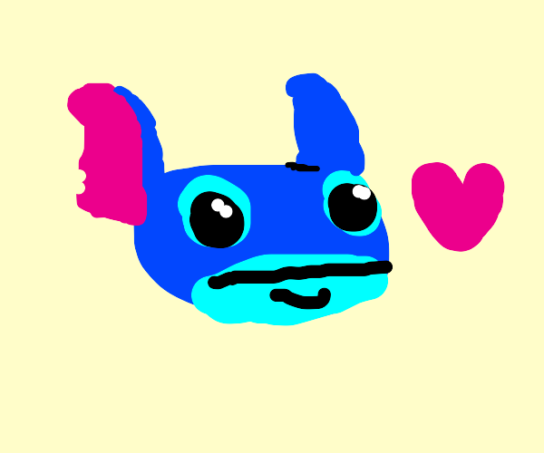Stitch is a cute baby