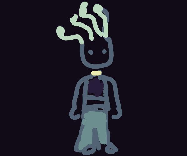 Medusa wearing Pants