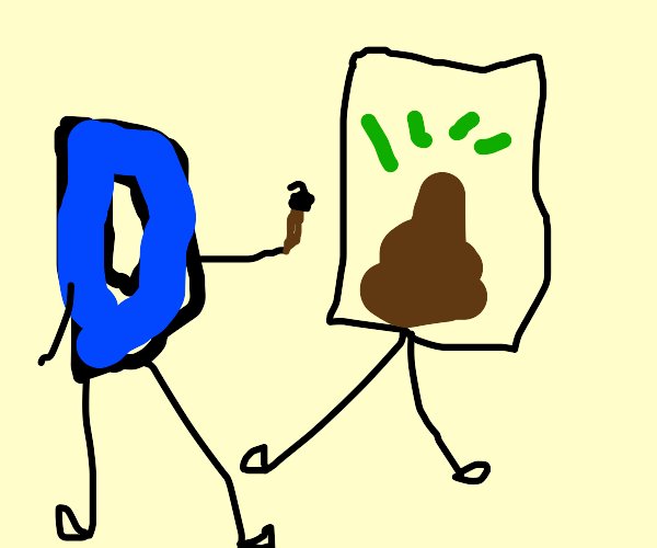 Drawception D is drawing poo