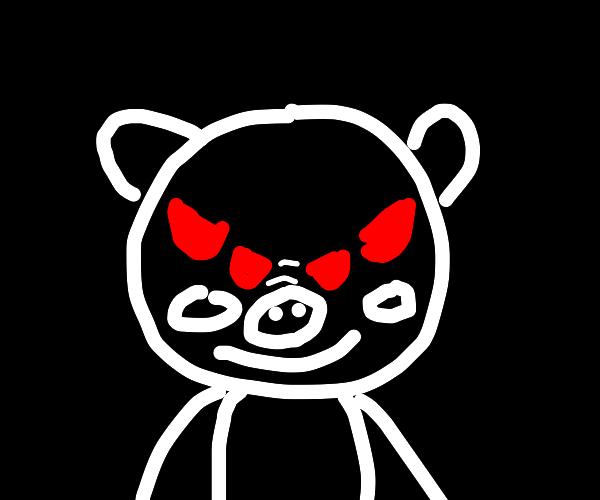 Peppa pig front view meme as a demon