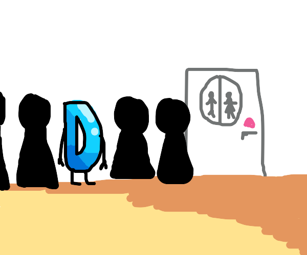 Drawception in line for the bathroom