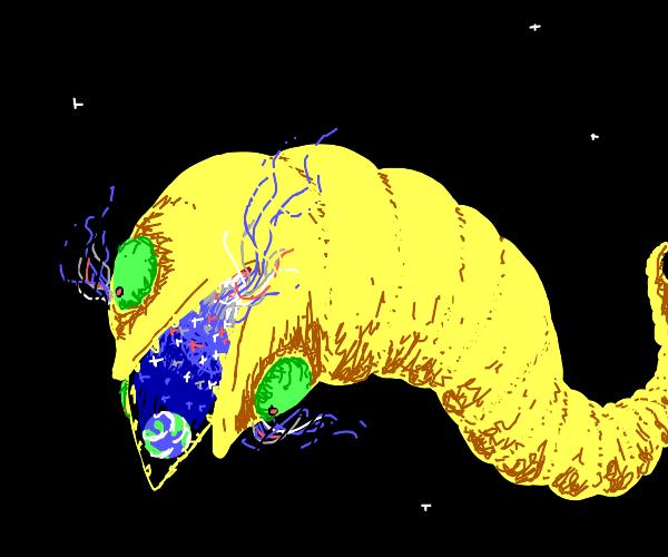 big 3 eyed monster vores the earth