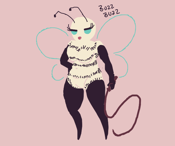 A bee but T H I C C