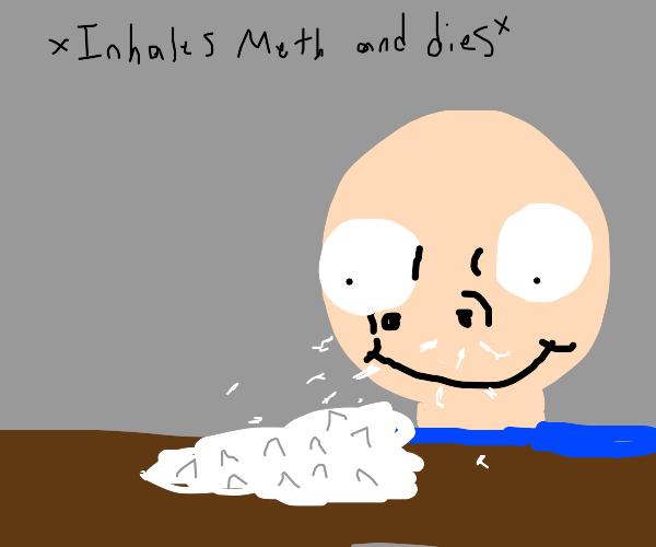 inhales meth