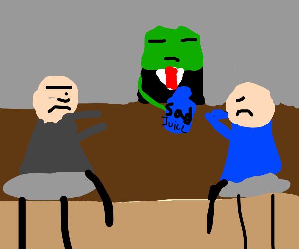 Frog offers a sad juice
