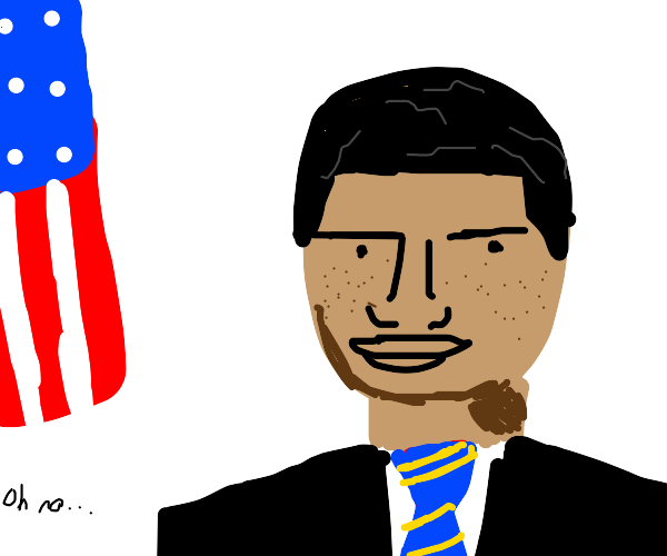 obama with freckles