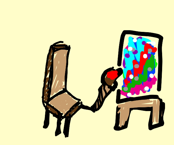 chair making absract painting