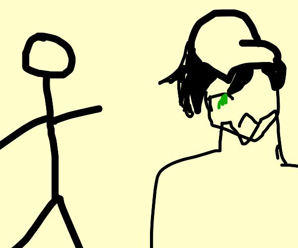 guy pointing at shuichi saihara (I think)