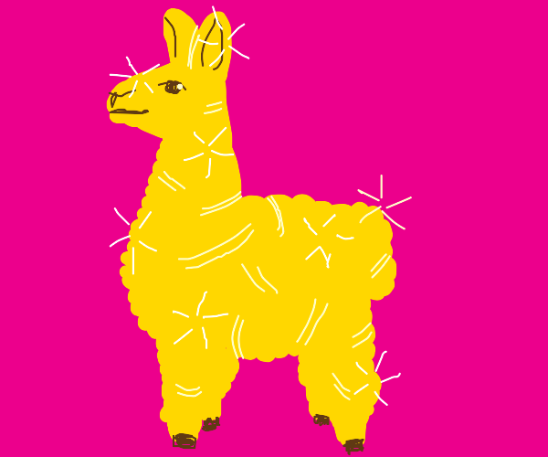 Shiny golden llama