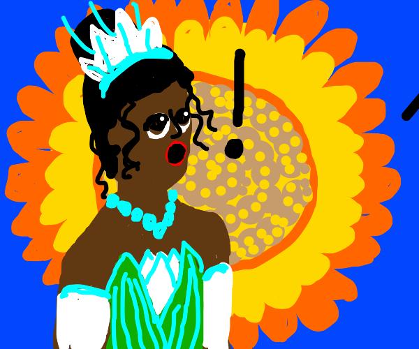 Sunflower vs princess tiana