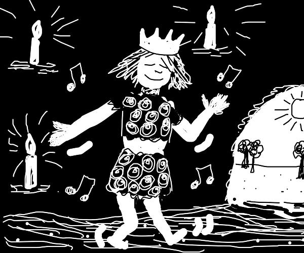 disco caveman queen