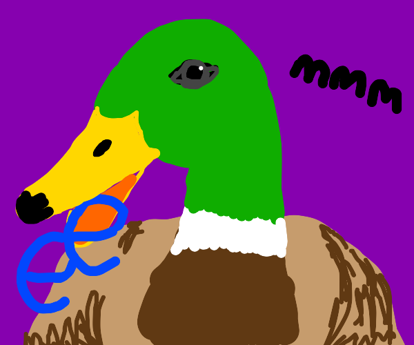 duck eat ee blue thing