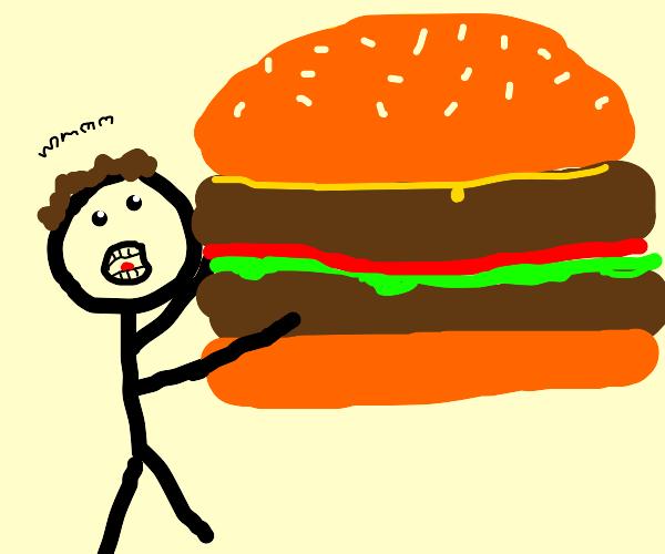 Very large hamburger mmmm