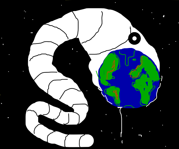 Worm swallows the earth
