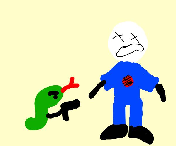 Snake shots 2 people
