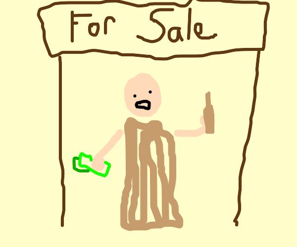Monk selling indulgences