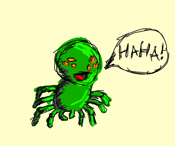 Alien insect laughing