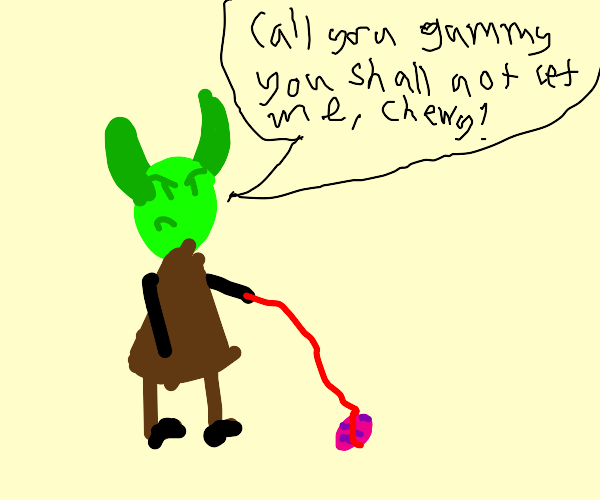 Yoda taking chewie for a walk on lead