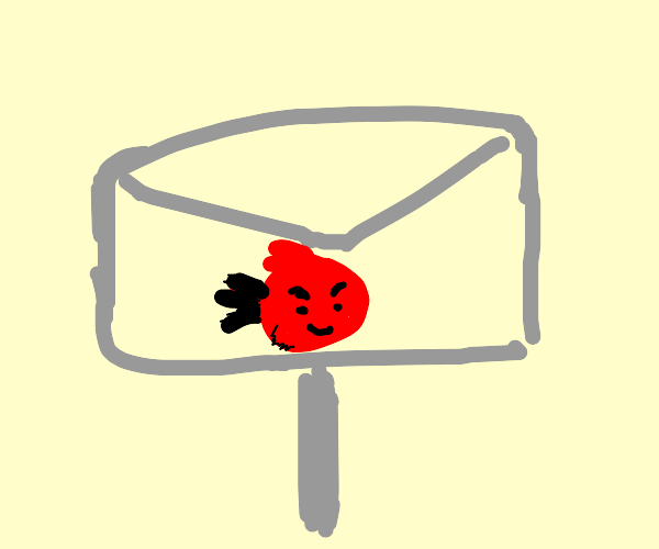 Angry bird in a mailbox