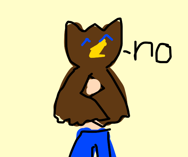 owl-human says no