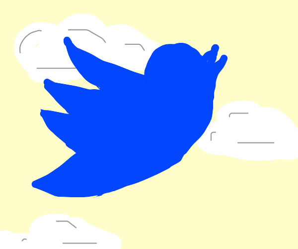 Twitter Bird flying in the air