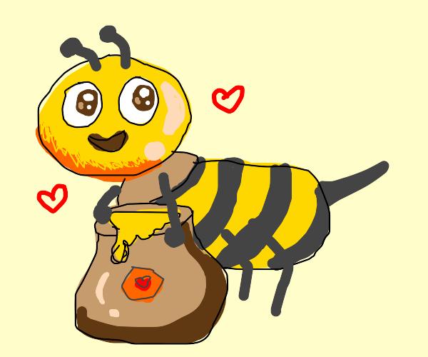 bee loves honey (literally)