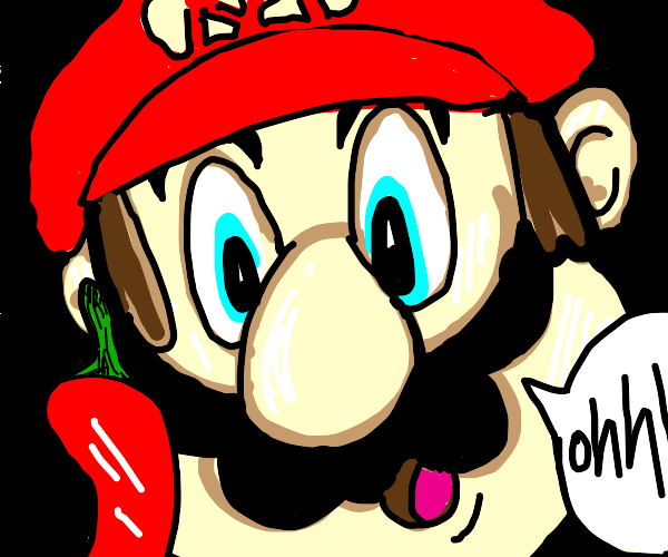 Mario observes red chilli pepper