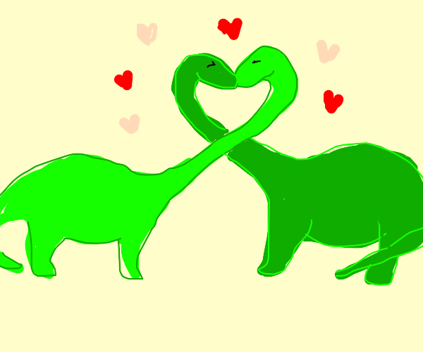 dinosaurs fall in love