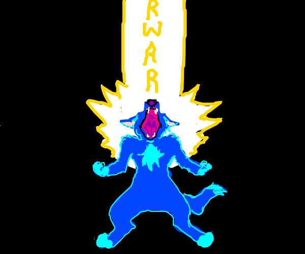 "Furry unleashes the true power of ""rawr"" XD"